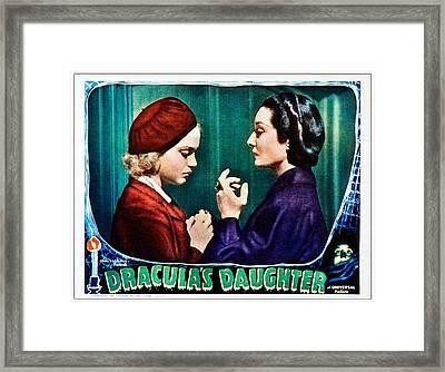 Draculas Daughter, From Left Nan Grey Framed Print