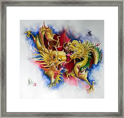 Dragon  Framed Print by Alan Kirkland-Roath