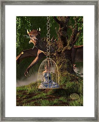 Dragon Bait Framed Print by Daniel Eskridge