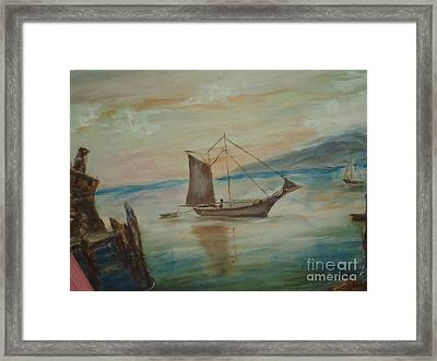 Dragon Boat Framed Print by Debbie Wassmann