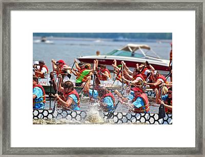 Framed Print featuring the photograph Dragon Boat Regatta 2 by Jim Albritton