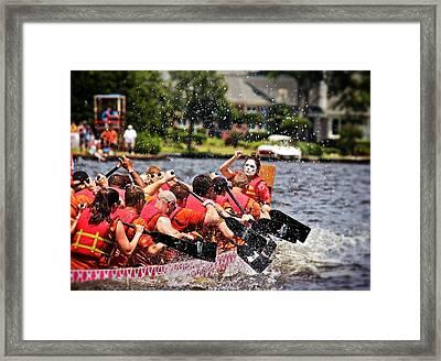 Framed Print featuring the photograph Dragon Boat Regatta  by Jim Albritton