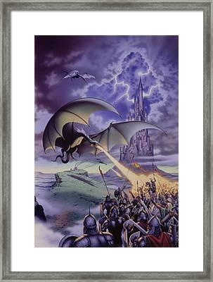 Dragon Combat Framed Print by The Dragon Chronicles - Steve Re