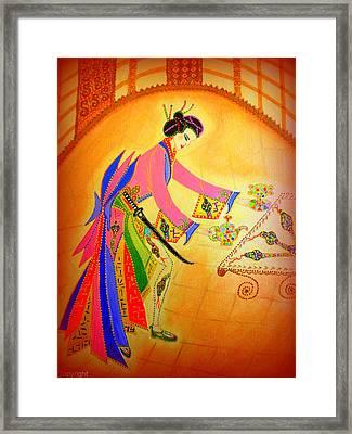 Dragon-geisha Framed Print