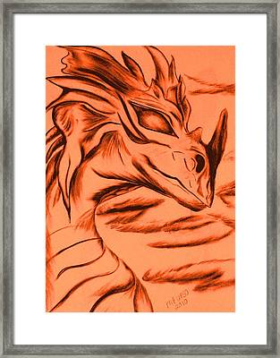 Dragon In Color Framed Print by Maria Urso