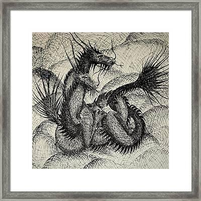 Dragon Love Framed Print