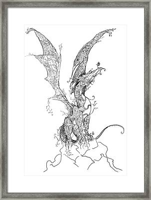 Dragon Of Life Framed Print by Kyle Gray