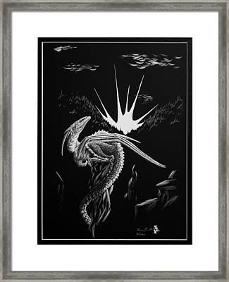 Dragon Rise Framed Print by Morgan Banks