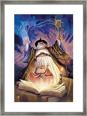 Dragon Spell Framed Print