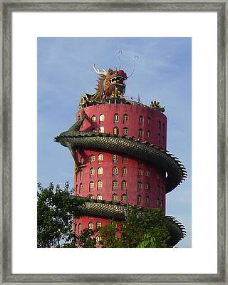 Dragon Temple Framed Print by Gregory Smith