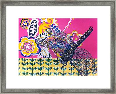 Dragonfly Framed Print by Amy Reisland-Speer