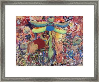 Dragonfly Framed Print by Andrea Friedell