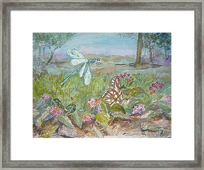 Dragonfly Framed Print by Dorothy Herron