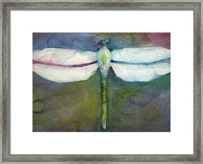 Framed Print featuring the painting Dragonfly by Richard Willows