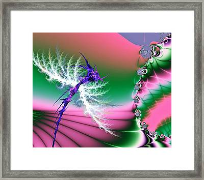 Dragonfly Framed Print by Sharon Lisa Clarke