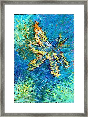Dragonfly With Sparkles  Framed Print by Anne-Elizabeth Whiteway