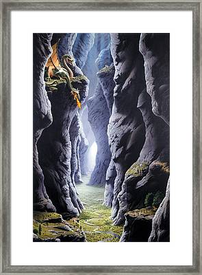 Dragons Pass Framed Print by The Dragon Chronicles - Steve Re