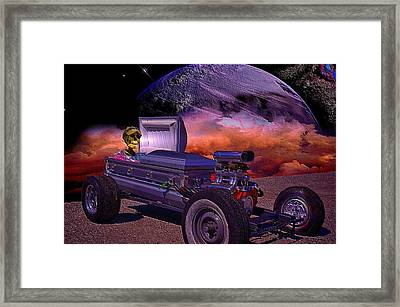 Dragula Munster Dragster Replica Framed Print by Tim McCullough