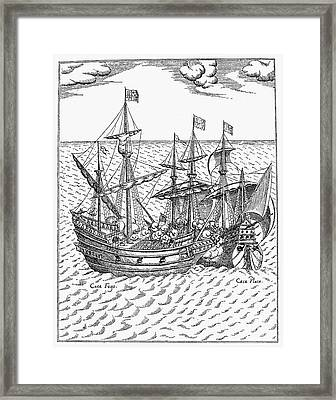 Drake: Golden Hind, 1579 Framed Print by Granger
