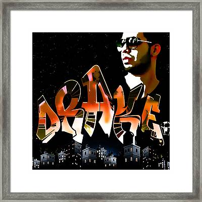 Drake 'watch Over The City' By Gbs Framed Print by Anibal Diaz
