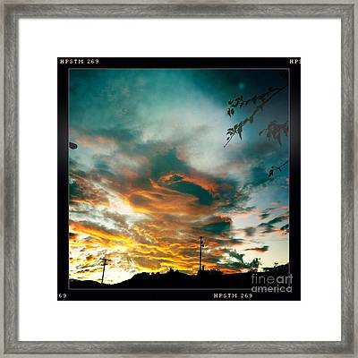 Framed Print featuring the photograph Drama In The Sky by Nina Prommer
