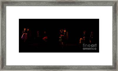 Drama Of Life Framed Print by Venura Herath