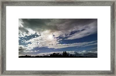 dramatic clouds V Framed Print by Nafets Nuarb
