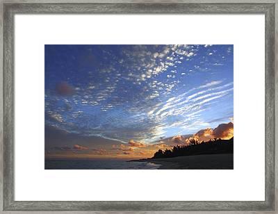 Dramatic Hawaiian Sky Framed Print by Vince Cavataio