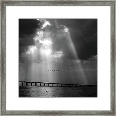 Dramatic Sky Framed Print