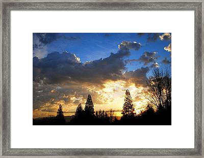 Dramatic Sunrise  Framed Print