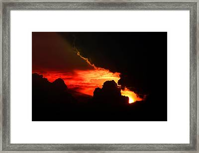 Dramatic Sunset II Framed Print by Emanuel Tanjala