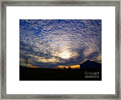 Dramatic Sunset Framed Print