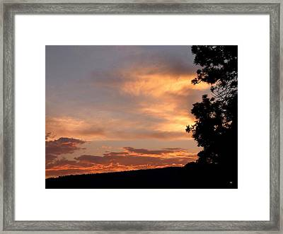 Dramatic Sunset Framed Print by Will Borden