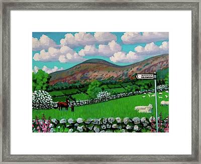 Dranagh Lane Framed Print by Frank Strasser