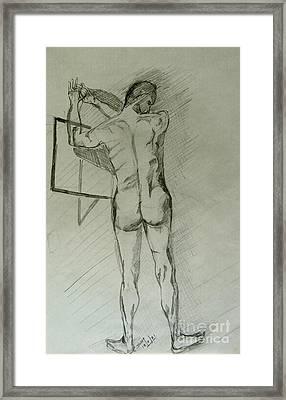 Drawing Class. Male Framed Print by Caroline Street