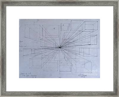 Drawing Class. Perspective Framed Print by Caroline Street