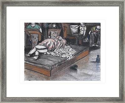 Drawing Of A Sleeping Model Framed Print