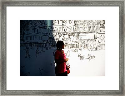 Drawn Out Of The Shadows Framed Print by Jez C Self