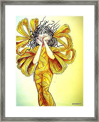 Dreadfully Awake Faced With The Pain And The Silence Framed Print