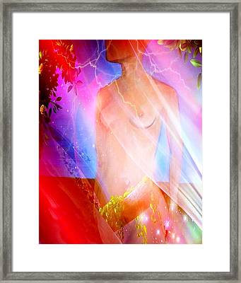 Framed Print featuring the painting Dream 1 by Susan  Solak