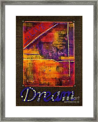 Dream Banner Framed Print by Angela L Walker