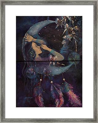 Dream Catcher Framed Print by Dorina  Costras