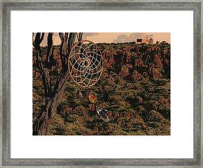 Dream Catcher Framed Print by Diana Morningstar