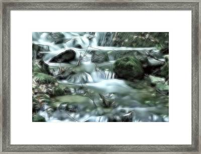 Framed Print featuring the digital art Dream Forest River by Odon Czintos