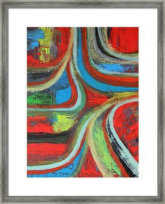 Framed Print featuring the painting Dream Highway by Everette McMahan jr