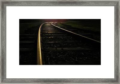 Framed Print featuring the photograph Dream Rails by Brian Hughes