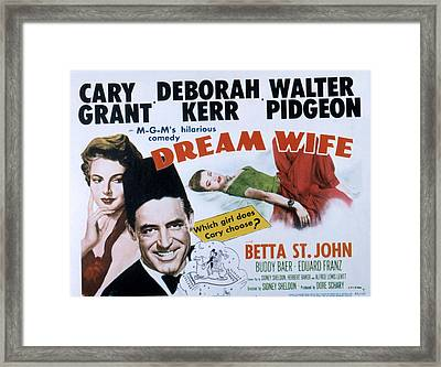 Dream Wife, From Left Deborah Kerr Framed Print by Everett
