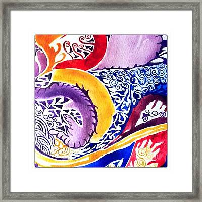 Dreaming In Watercolors Framed Print