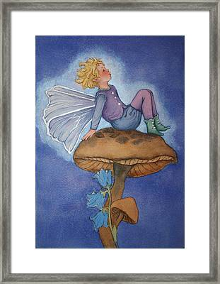 Dreaming Fairy Framed Print by Leslie Redhead