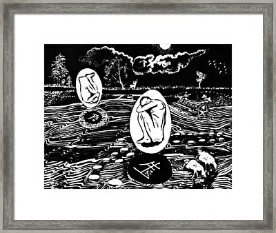 Dreaming In Black And White Framed Print by Ion vincent DAnu